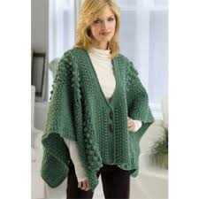 crochet wrap free aran toggle wrap crochet pattern