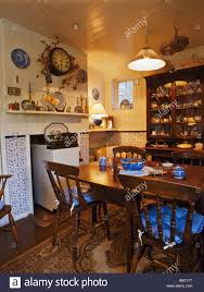 dining room in 19th century house hadlow kent stock photo