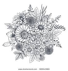 Flower Designs For Drawing Flower Sketch Stock Images Royalty Free Images U0026 Vectors