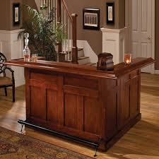 Home Bar Furniture Hillsdale Furniture 6257 Classic Large Home Bar With Side Bar