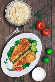 Mediterranean Style Food - mediterranean pan seared trout recipe with tzatziki sauce the