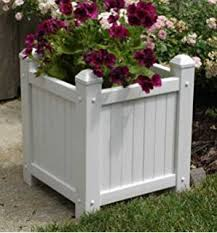 amazon com duratrel 11124 white large planter box patio lawn