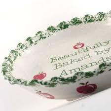 personalized pie plate ceramic wassermelone torte dish personalisierte pie plate thepigpen