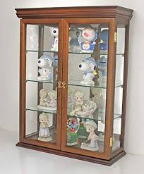 wall mounted kitchen display cabinets small 26 solid wood tuscan style small wall curio cabinet stand or wall mount 19 75 wx 26 hx 7 d walnut