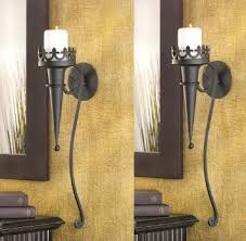 Torch Wall Sconce Buy Gothic Medieval Iron Wall Torch Sconce Pillar Candle Holder