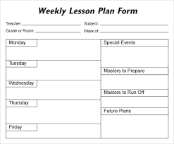 lesson plan outline 5 free lesson plan templates excel pdf