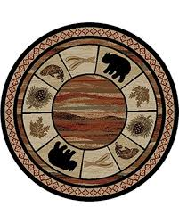 Rustic Lodge Rugs Snag This Fall U0027s Sale 9 Off Rustic Lodge Bear Cabin 5 U00273