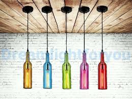 wine bottle pendant light modern lighting modern chandelier