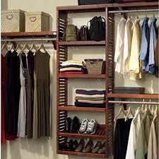 wood closet organizer amazon com
