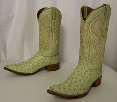 s country boots size 11 light lime green ostrich leather cowboy boots size 9 5 d or