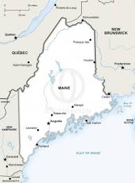 map of maine free vector map of maine outline one stop map
