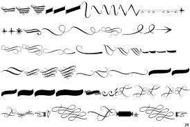 fontscape home symbols swirl ornaments