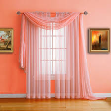Sheer Coral Curtains Warm Home Designs Coral Window Scarf Valance Sheer Coral Curtains