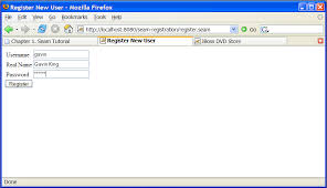 1 2 your first seam application the registration example