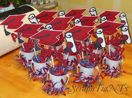 high school graduation party centerpieces graduation centerpieces pails with cap and year decorations