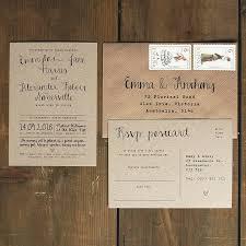 calligraphy invitations calligraphy kraft wedding invitation by feel wedding