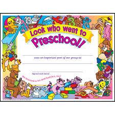 preschool certificates look who went to preschool pk k certificates diplomas
