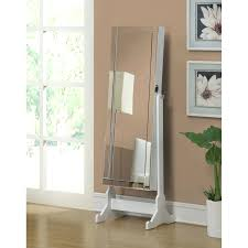 Jewelry Armoire Antique White Mirrors White Cheval Mirror Floor Standing Jewelry Armoire