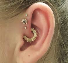 gold piercing rings images Daith piercing jewelry best gold heart moon rose cost png