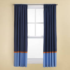 Nursery Girl Curtains by Kids Curtains Kids Navy And Light Blue Curtains With Orange Trim
