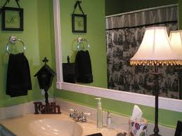 my lime green bathroom with black white and red accents i switch