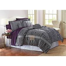 Comforters From Walmart Better Homes And Gardens 7 Piece Embroidered Ruching Full Bedding