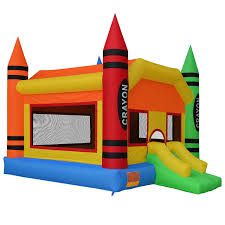 amazon com cloud 9 the crayon bounce house large inflatable