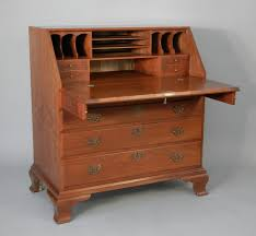 Chippendale Secretary Desk by Doucette And Wolfe Fine Furniture Makers Slant Front Desk