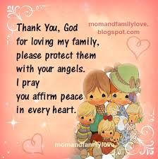 and family thank you god for loving my family prayer