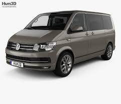 volkswagen models van volkswagen transporter t6 multivan with hq interior 2016 3d