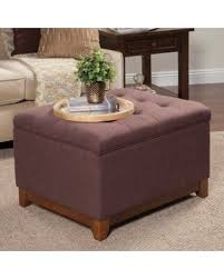 Kinfine Storage Ottoman Winter Bargains On Kinfine Usa Chunky Textured Storage Ottoman