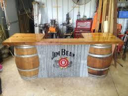 whiskey barrel bar table barrel bar s man cave pinterest barrels bar and men cave