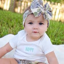 baby girl hair bows new floral bow wrap for girl hair accessories fashion