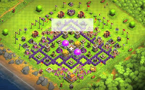 layout coc town hall level 7 coc anti base town hall 7 hybrid th7 war farming defense