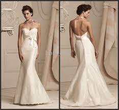 stunning ivory wedding dresses satin sweetheart backless covered