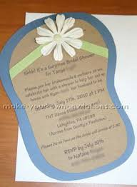 Make Your Own Bridal Shower Invitations Flip Flop Invitations For Bridal Showers Tutorial