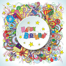 Happy 39th Birthday Wishes Happy Birthday Greeting Card On White Background With Celebration
