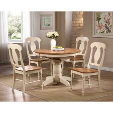 iconic furniture antiqued caramel biscotti round dining table by