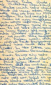 fragment of an old handwritten letter written in german can be