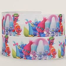 printed grosgrain ribbon 10yards 7 8 22mm new trolls printed grosgrain