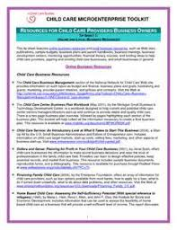 child care business plan sample free sample resume for zonal