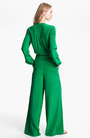 roy jumpsuit lyst roy silk jumpsuit in green