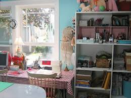 creative sewing room concept that comfy and organized decorating