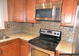 kitchen backsplash ideas with santa cecilia granite brown glass and travertine mixed backsplash tile with santa