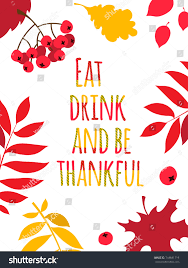 design style flat design style happy thanksgiving day stock illustration