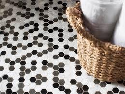 install hexagon floor tile