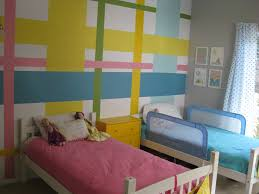 boy girl shared room all done with painters tape and small boy girl shared room all done with painters tape and small cans of