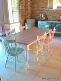 Pastel Dining Chairs Restyled Vintage Rainbow Pastels Dining Suite Kitchen