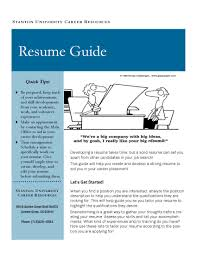 guide to create resume resume guide stanton