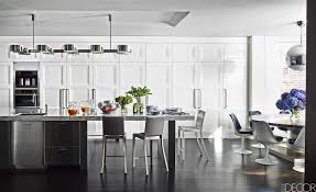 Wood Kitchen Cabinets With Wood Floors by Kitchen Style Spacious Modern Black Kitchen Cabinets With White